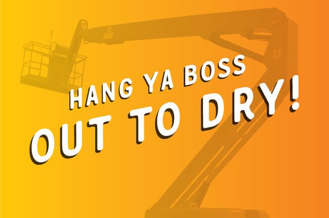 Hang Ya Boss Out To Dry Fundraiser Sunshine Hospice FC Lawyers Sunshine Coast Charity Law